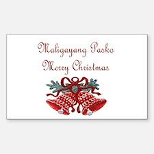 Filipino Christmas Rectangle Sticker 50 pk)