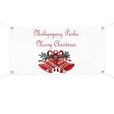 Filipino Christmas Banner