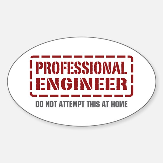 Professional Engineer Oval Decal