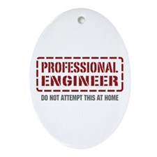 Professional Engineer Oval Ornament