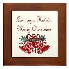 Lithuanian Christmas Framed Tile