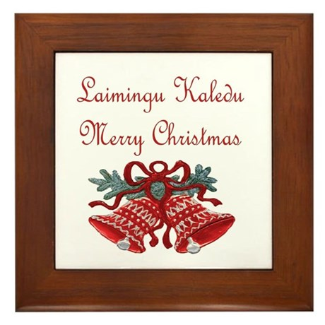 Lithuanian Christmas Framed Tile