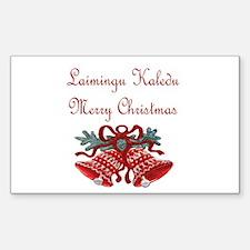 Lithuanian Christmas Rectangle Sticker 50 pk)
