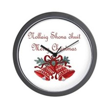Irish Christmas Wall Clock