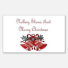 Irish Christmas Rectangle Sticker 50 pk)