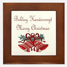 Hungarian Christmas Framed Tile