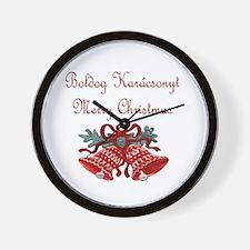 Hungarian Christmas Wall Clock