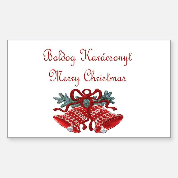 Hungarian Christmas Rectangle Sticker 50 pk)