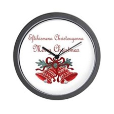 Greek Christmas Wall Clock