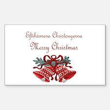 Greek Christmas Rectangle Sticker 50 pk)
