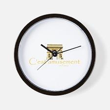 It's fun in France Wall Clock