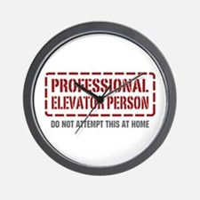 Professional Elevator Person Wall Clock