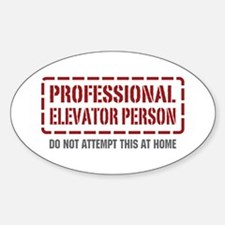 Professional Elevator Person Oval Decal