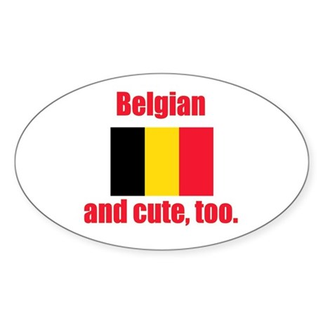 Cute Belgian Oval Sticker (50 pk)