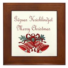 Albanian Christmas Framed Tile