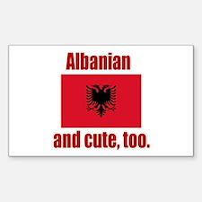 Albanian & Cute Rectangle Sticker 10 pk)