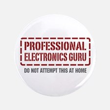 "Professional Electronics Guru 3.5"" Button"