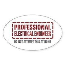 Professional Electrical Engineer Oval Decal