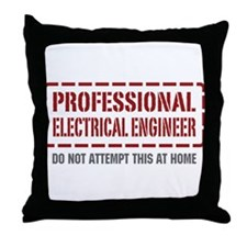 Professional Electrical Engineer Throw Pillow
