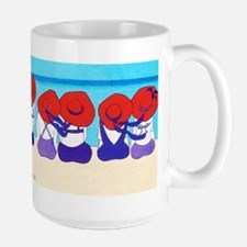 "Red Hat Ladies ""On the Beach"" Large Mug"