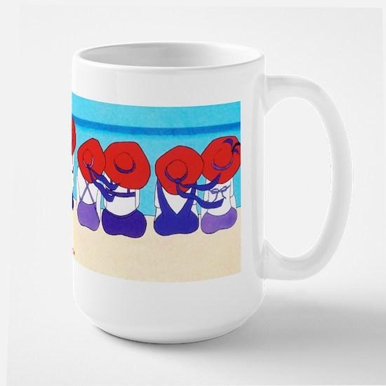 "Red Hat Ladies ""On the Beach"" Large Mug"