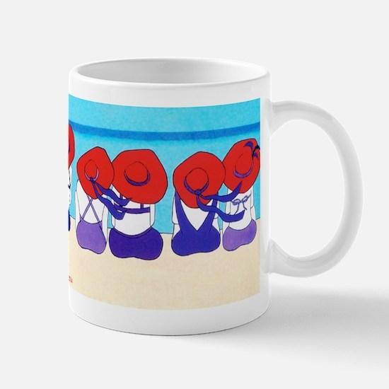 "Red Hat Ladies ""On the Beach"" Mug"