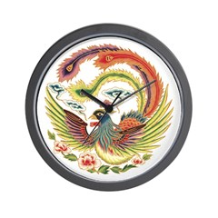 Chinese Rooster Wall Clock