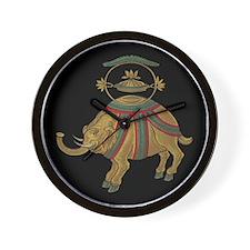 Decorative Asian Elephant 2 Wall Clock