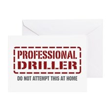 Professional Driller Greeting Card