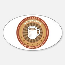 Instant Woodworker Oval Decal