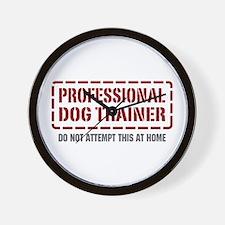 Professional Dog Trainer Wall Clock