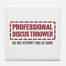 Professional Discus Thrower Tile Coaster