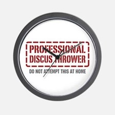 Professional Discus Thrower Wall Clock