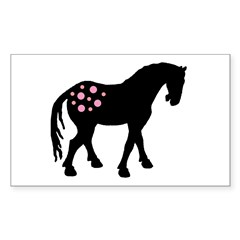 Pink Spots Cute Appy Rectangle Sticker
