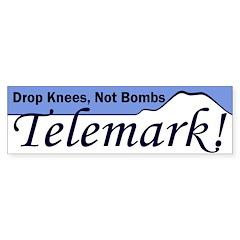 Drop Knees Telemark Bumper Bumper Sticker