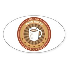 Instant Video Editor Oval Decal