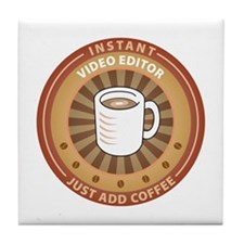 Instant Video Editor Tile Coaster