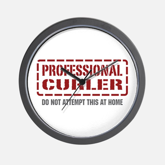 Professional Curler Wall Clock