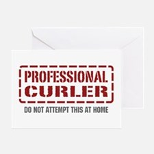 Professional Curler Greeting Card