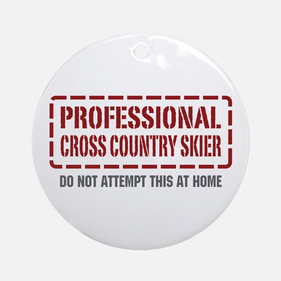 Professional Cross Country Skier Ornament (Round)