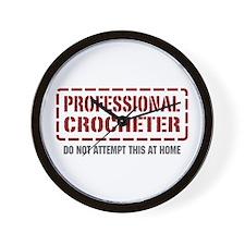 Professional Crocheter Wall Clock