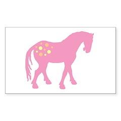 Cute Pink Appaloosa Rectangle Sticker 50 pk)