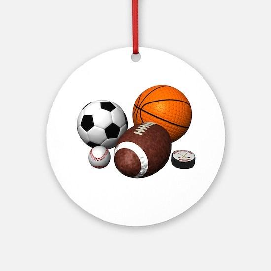 sports balls Ornament (Round)