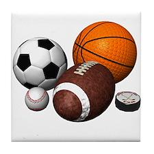 sports balls Tile Coaster