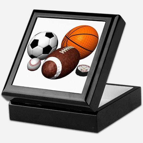 sports balls Keepsake Box