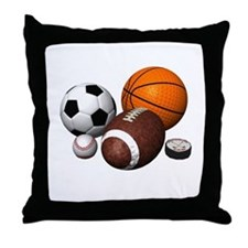 sports balls Throw Pillow