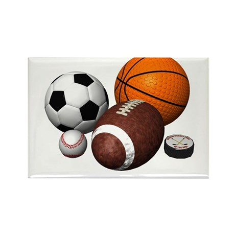 sports balls Rectangle Magnet (10 pack)