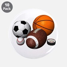 "sports balls 3.5"" Button (10 pack)"
