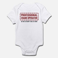 Professional Crane Operator Infant Bodysuit