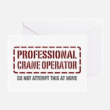 Professional Crane Operator Greeting Card